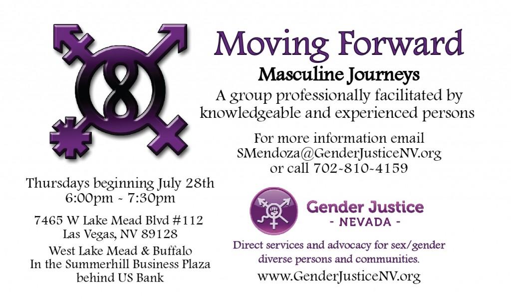 Moving Forward –  Masculine Journeys @ Gender Justice Nevada | Las Vegas | Nevada | United States